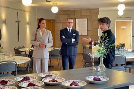 Kronprinsessparet gästade pingstkyrkan i Skövde