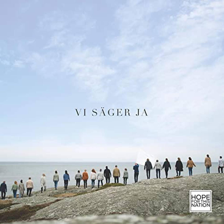 """Hope for this nation """"Vi säger ja"""" skivomslag (2020). Medverkande: Sanna Välipakka och Alexander Forsberg."""