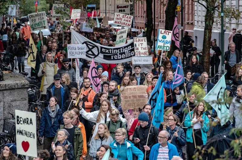 Världen behöver fler fredliga rörelser som ger möjlighet att kanalisera engagemang över klimatkrisen och världens orättvisor, skriver representanter för priskommittén för Martin Luther King-priset. Bilden: klimatdemonstration i Malmö 2019.