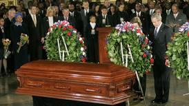 Billy Grahams kista ställs ut i Washington DC