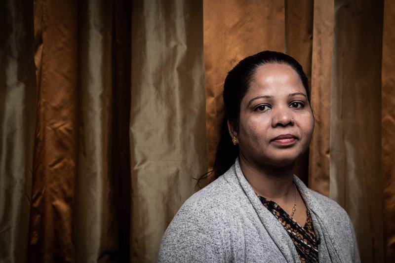 TOPSHOT - Asia Bibi from Pakistan, poses during a photo session in Paris, on February 25, 2020. - The case of Asia Bibi, a Christian woman sentenced to death for blasphemy in 2010 and acquitted by the Supreme Court in 2018, shone a global spotlight on the use and abuse of blasphemy laws in Pakistan. (Photo by Martin BUREAU / AFP)