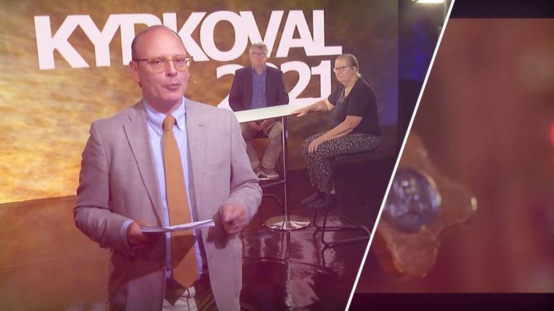 Rasmus Troedsson i programmet Kyrkovalet 2021.