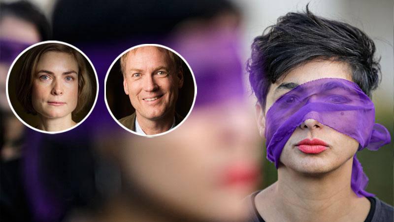 Att feminister sitter med vid förhandlingsborden under det jämställdhetspolitiska superåret 2020 är helt avgörande, skriver debattörerna. Bilden: Rumänska protester mot våld mot kvinnor 1 mars 2020. Liknande protester har skett i Sydamerika, USA och i Europa.