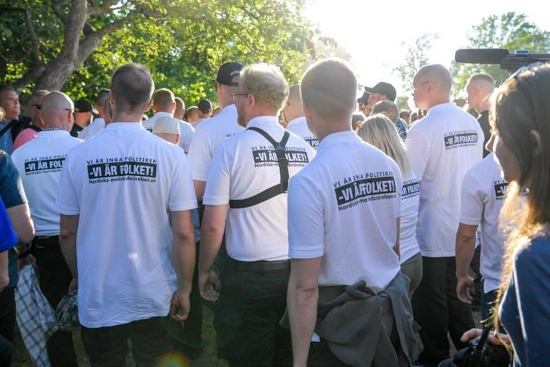 Medlemmar ur NMR på Almedalsveckan i Visby.