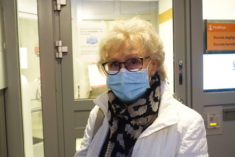 Birgit Eriksson med munskydd.