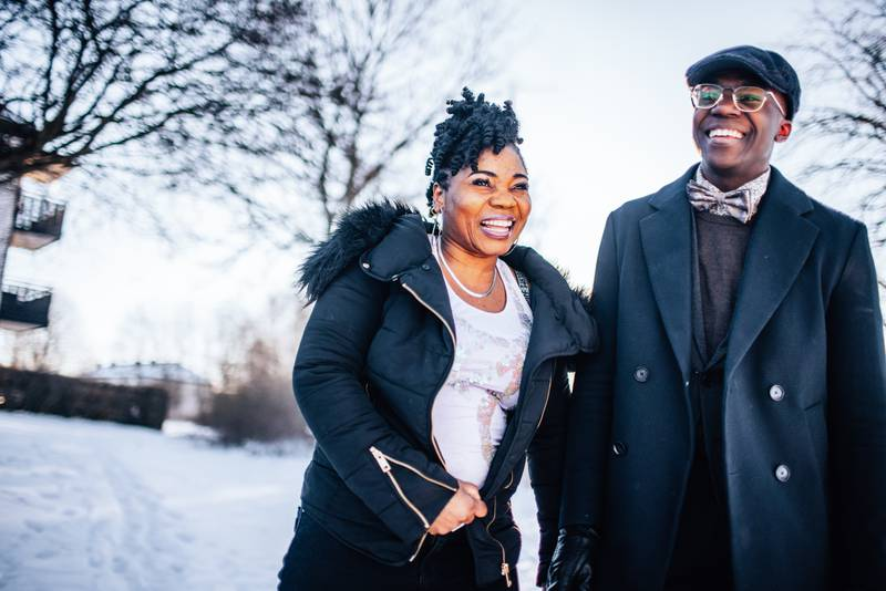 Som fyra åring ledde Gift Blessing barnkören i flyktinglägret i Namibia. På fredag står han i final i tv-programmet Talang. Dagen åkte till Linköping för att träffa honom och hans familj.