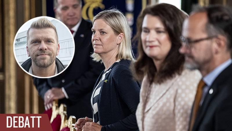 Finansminister Magdalena Andersson (S) vid skifteskonseljen på Stockholms slott i samband med regeringsskiftet i somras.