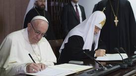 Påve och patriark i historiskt möte