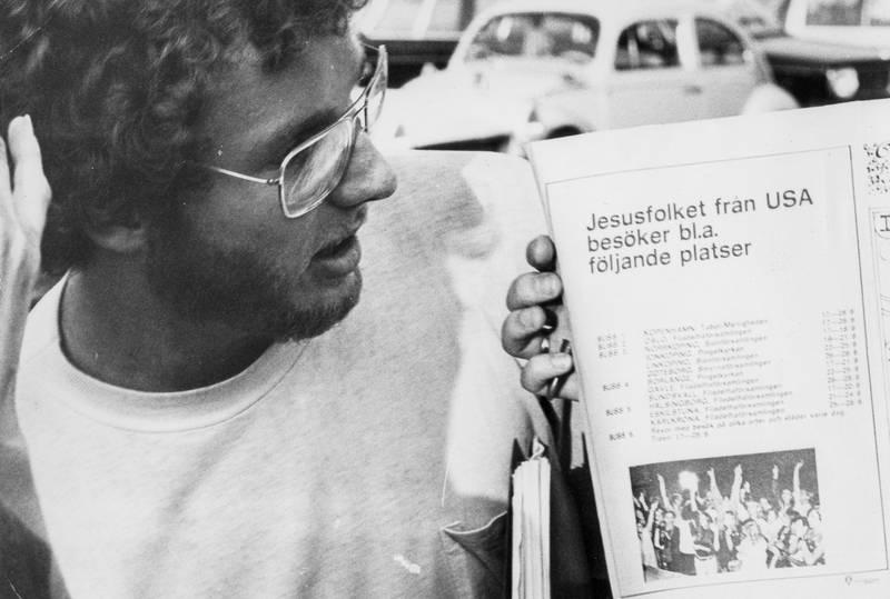 Svartvit bild som är scannad från tidningen Dagens bildarkiv.
