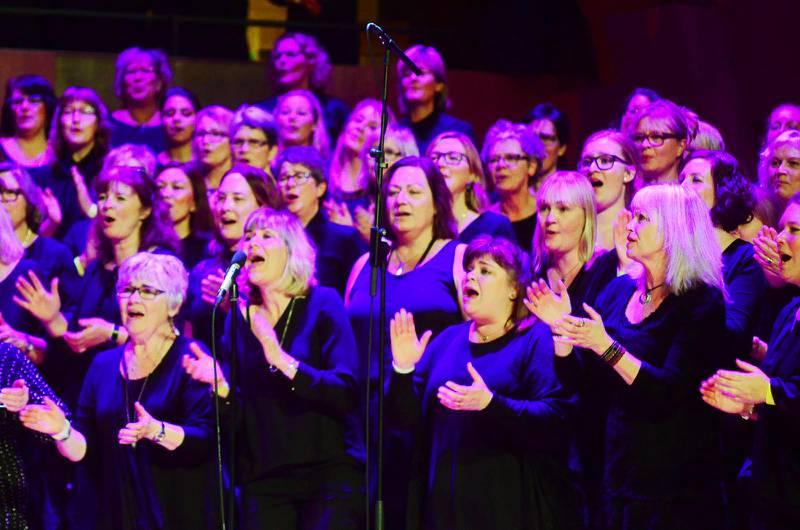 Sångare från Gospelfest på Malmö arena den 21 januari i år.