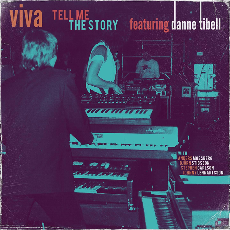 """Danne Tibell med flera """"Viva – Tell me the story"""" skivomslag (2020)."""