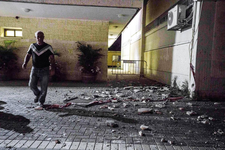 13 juni 2019. Sderot utsätts för en raketattack från Gazaremsan.