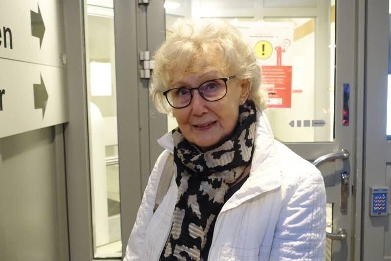 Birgit Eriksson utan ansiktsmask.