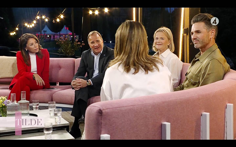 """När Stefan Löfven och Carola möttes i TV4 uttryckte statsministern en önskan om att höra mer gospel – och beskrev sig som """"inte aktivt troende, men inte heller motsatsen""""."""