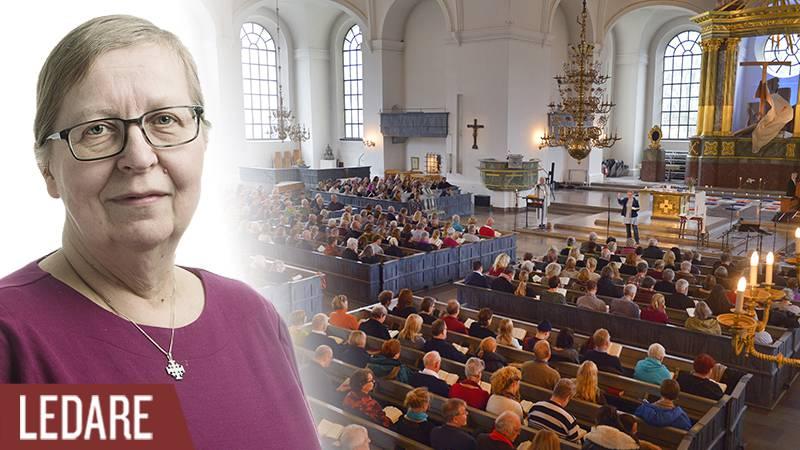 Kyrkoherde Olle Carlsson höll i mässa som hedrade offren vid terroristattackerna i Paris.