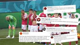 Världen bad för danska landslagsspelaren Christian Eriksen