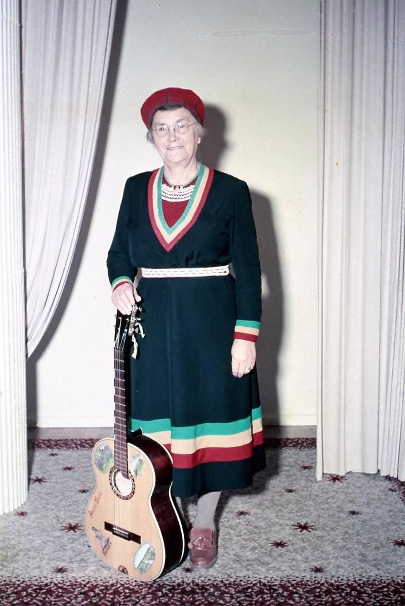 Lapp-Lisa fotograferad av Evan Ljunggren någon gång på 1950-talet.