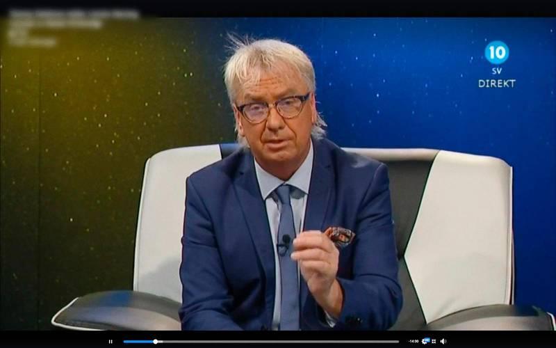 Tommy Dahlman som programledare i Kanal 10.