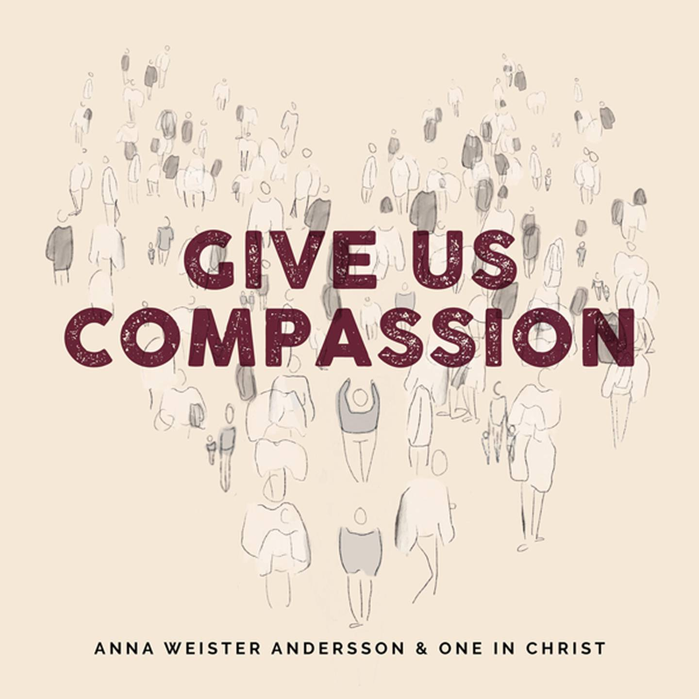 """Anna Weister Andersson """"Give us compassion"""" skivomslag (2020)."""