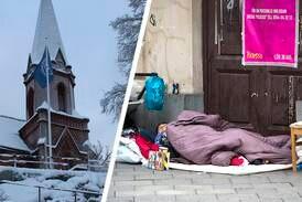 Hemlösa håller på att frysa ihjäl - kyrkan öppnar