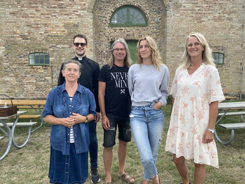 Oasrörelsen på Sverigeturné. Fr v: Berit Simonsson, Hans Weichbrodt, Lennart Henricsson, Hanna Simonsson och Lisa Lerman.