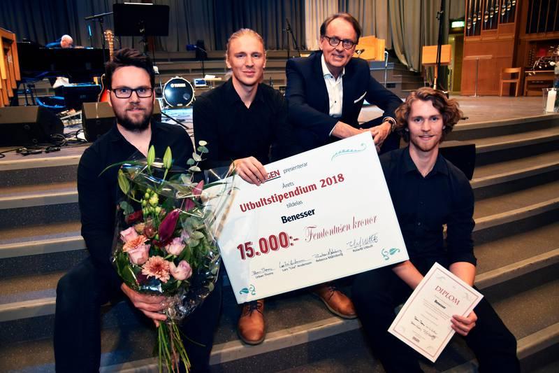 Förra året vann Benesser Utbultstipendiet.
