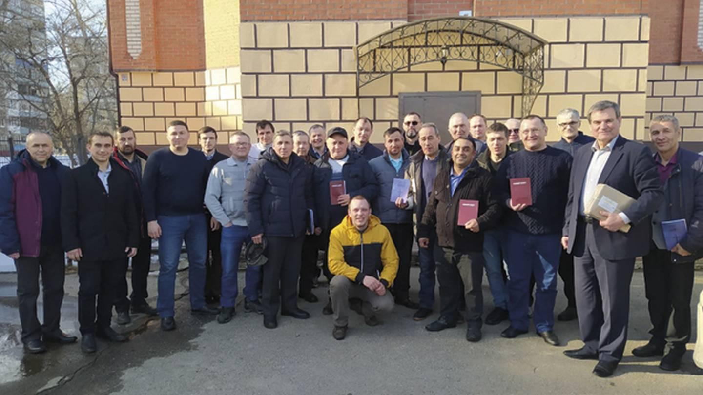 Ryssland pastorer i grupp.