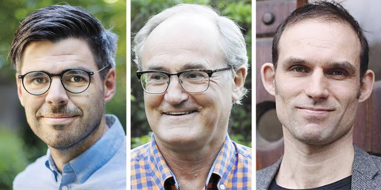 Joel Halldorf, Morten Sager och Morten Sager.