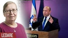 Israelisk regeringslösning är inget för Sverige