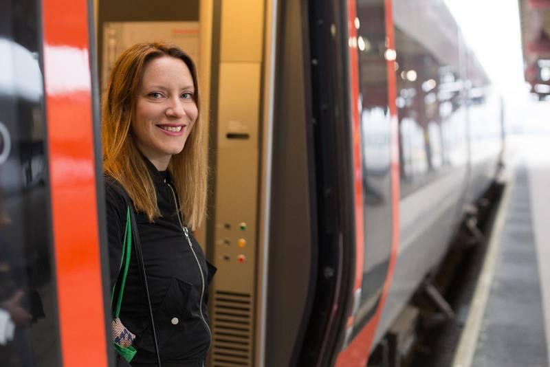 Resan inleds med tåg från Göteborg.