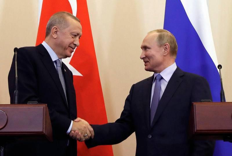 Turkiets president Erdogan (t v ) och Rysslands Vladimir Putin möttes i veckan och skrev avtal om att agera tillsammans. Ryssland har den senaste tiden tagit över USA:s roll som den starkaste aktören i Mellanöstern, säger Joakim Kreutz vid Uppsala universitet.