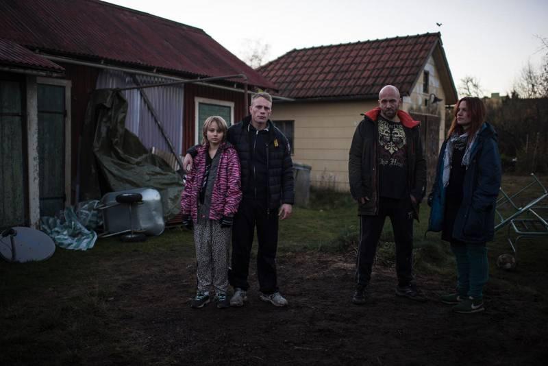 "Scen ur filmen ""Goliat"" där Joakim Sällquist spelar den kriminelle pappa Roland Henebro."