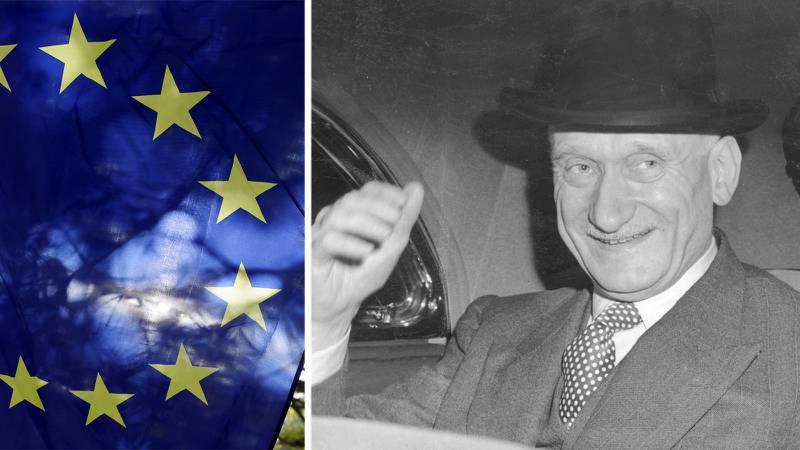 Robert Schuman, politiker, Frankrike.