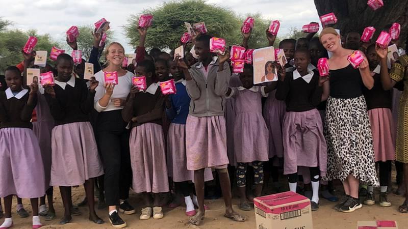 Mensskydd till tjejer i Kenya.