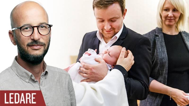 Fredrik Wenell och barndop.