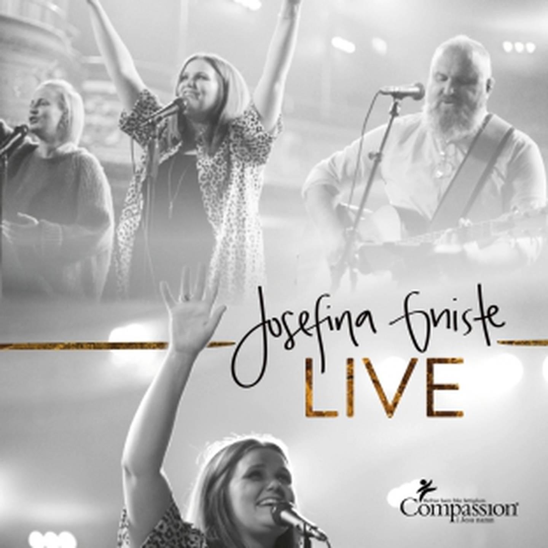"Josefina Gniste ""Live"" skivomslag (2020)."