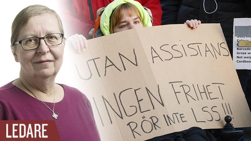 En manifestation arrangerad på internationella funktionshindersdagen.