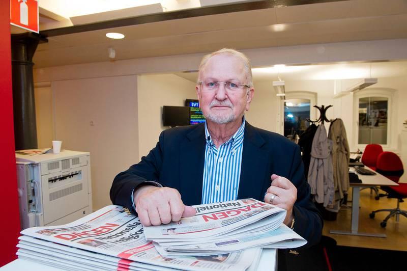 Siewert Öholm på Dagens redaktion 2011.