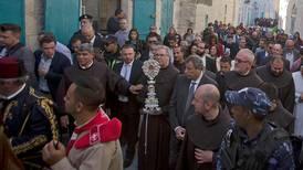 Rekordmånga pilgrimer kommer till det Heliga landet
