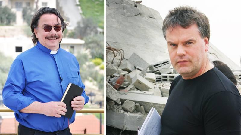 Joakim Wohlfeil (till höger) kritiserar EFS-prästen Anders Sjöbergs uttalande om att Sveriges regering är antisemitisk.