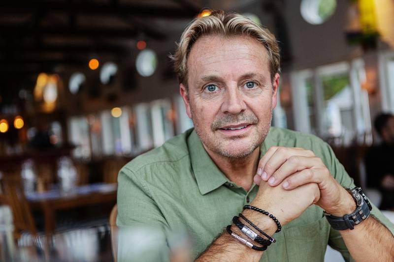 Runar Sögaard i intervju med reporter Urban Thoms.
