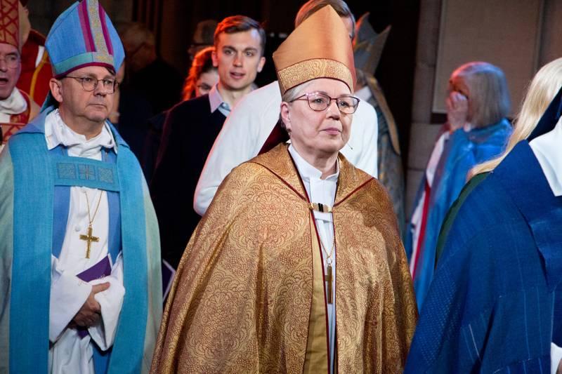 500-årsminnet av reformationen högtidlighölls i Uppsala domkyrka på söndagsförmiddagen 29 Oktober 2017. Biskop Eva Nordung Byström, Härnösands stift. Biskop Johan Tyrberg, Lund stift