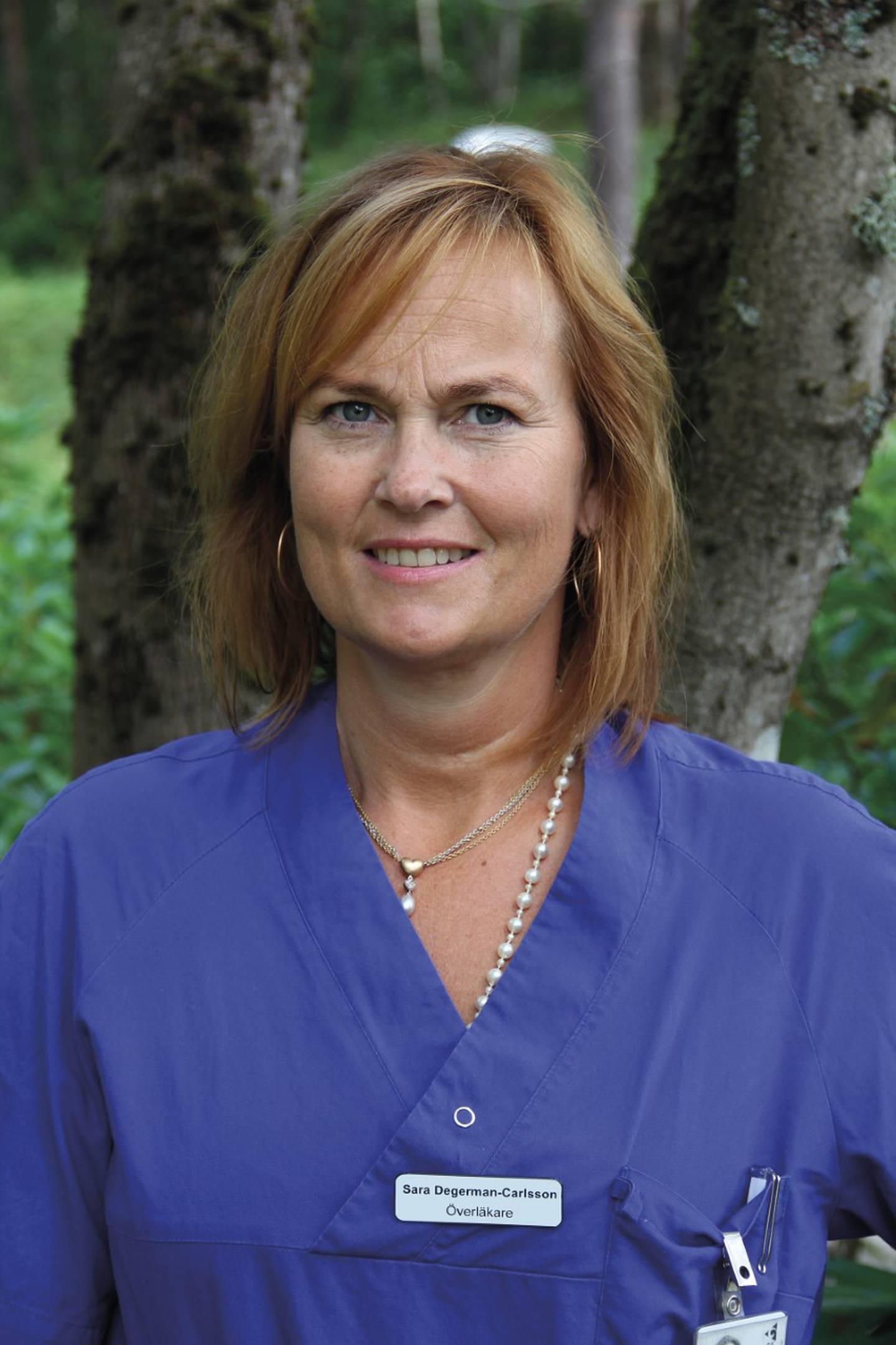 Sara Degerman-Carlsson, chefsläkare.