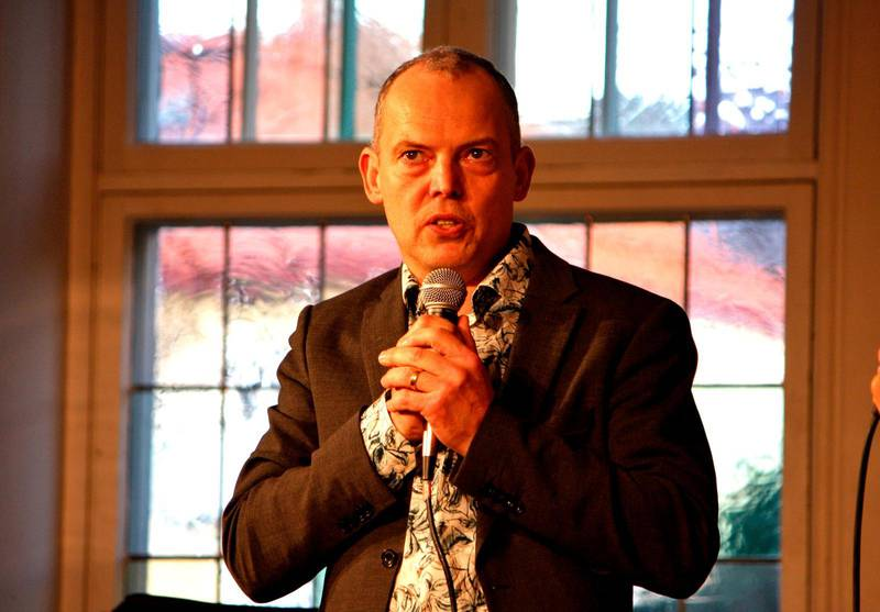 Pastor Daniel Stenback, från Korskyrkan i Norrköping var en talarna.