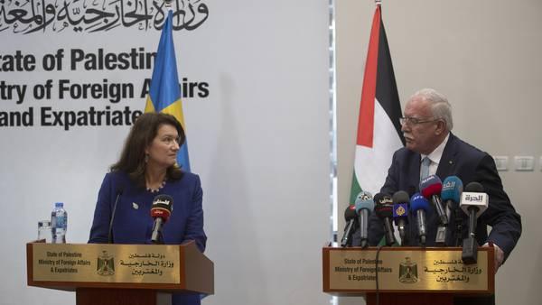 "Ann Linde kallades ""en otrogen"" efter besök i Palestina"