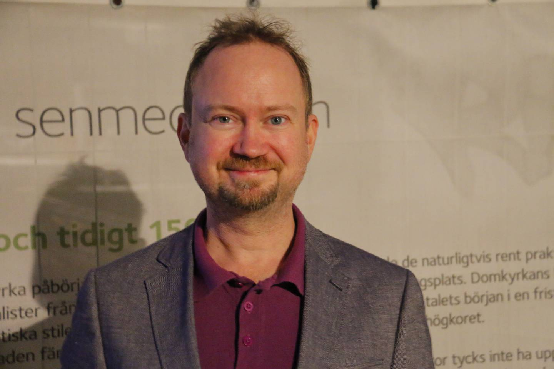 Hans Lindgren var sist i kön till vallokalen i Uppsala.