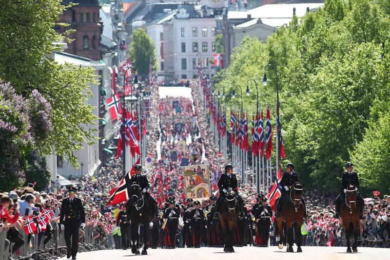 17 maj-firandet på Karl Johans-gatan i Oslo 2019.