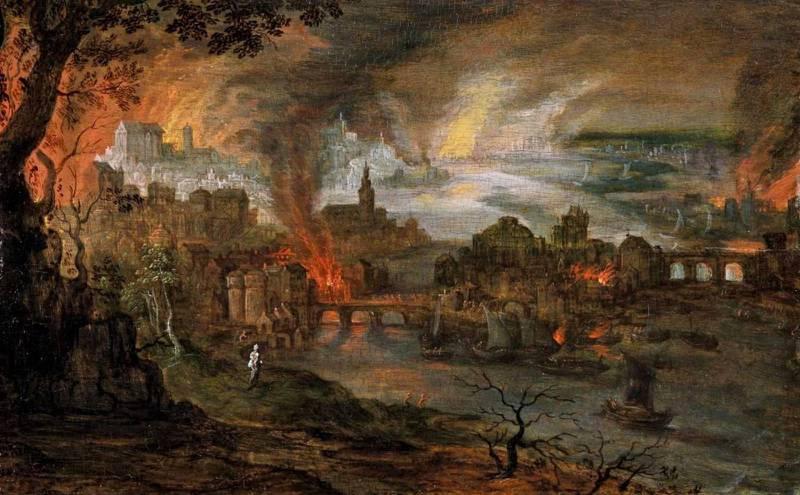Förstörelsen av Sodom och Gommorra.