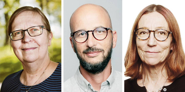 Elisabeth Sandlund, Fredrik Wenell, Inger Alestig.