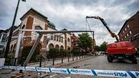 Stort säkerhetspådrag utanför synagogan i Malmö